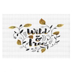 Decorative Floor Coverings | Zara Martina - Wild and Free Gold | Inspiring Typography