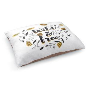 Decorative Dog Pet Beds   Zara Martina - Wild and Free Gold   Inspiring Typography