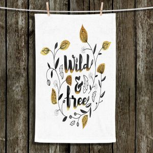 Unique Bathroom Towels | Zara Martina - Wild and Free Gold | Inspiring Typography