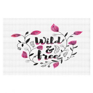 Decorative Floor Coverings | Zara Martina - Wild and Free Pink | Inspiring Typography