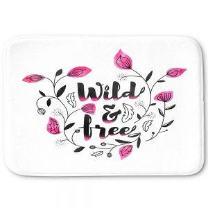 Decorative Bathroom Mats | Zara Martina - Wild and Free Pink | Inspiring Typography
