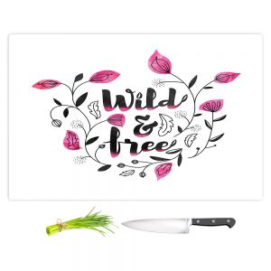 Artistic Kitchen Bar Cutting Boards | Zara Martina - Wild and Free Pink | Inspiring Typography