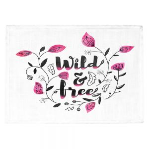 Countertop Place Mats | Zara Martina - Wild and Free Pink | Inspiring Typography