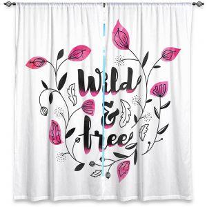 Decorative Window Treatments | Zara Martina - Wild and Free Pink | Inspiring Typography