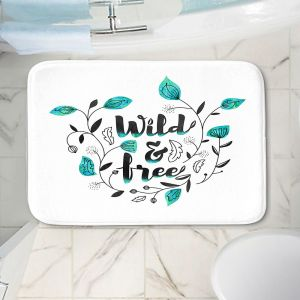 Decorative Bathroom Mats   Zara Martina - Wild and Free Teal   Inspiring Typography