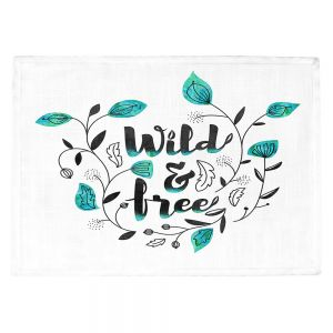 Countertop Place Mats | Zara Martina - Wild and Free Teal | Inspiring Typography
