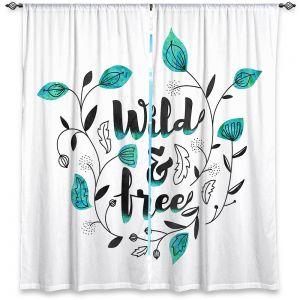 Decorative Window Treatments | Zara Martina - Wild and Free Teal | Inspiring Typography