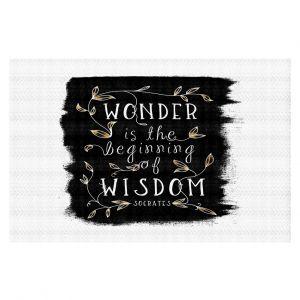 Decorative Floor Coverings | Zara Martina - Wonder is Wisdom Black Gold | Inspiring Typography