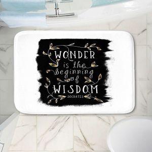 Decorative Bathroom Mats | Zara Martina - Wonder is Wisdom Black Gold | Inspiring Typography