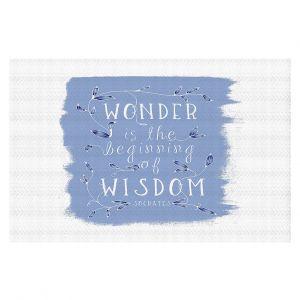 Decorative Floor Coverings | Zara Martina - Wonder is Wisdom Blue | Inspiring Typography