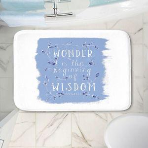 Decorative Bathroom Mats   Zara Martina - Wonder is Wisdom Blue   Inspiring Typography