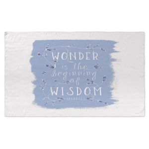 Artistic Pashmina Scarf | Zara Martina - Wonder is Wisdom Blue | Inspiring Typography