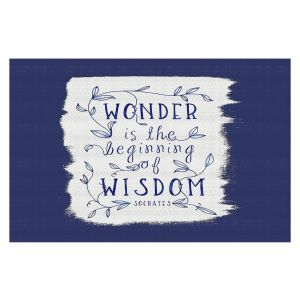 Decorative Floor Coverings | Zara Martina - Wonder is Wisdom Navy | Inspiring Typography
