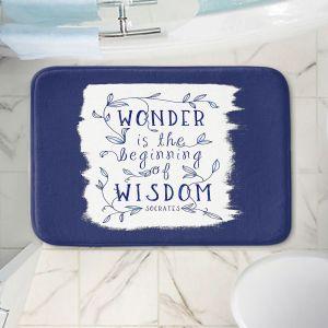 Decorative Bathroom Mats | Zara Martina - Wonder is Wisdom Navy | Inspiring Typography