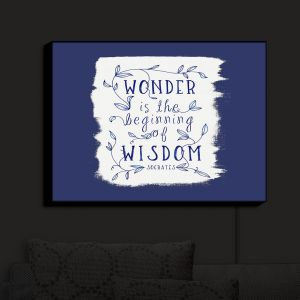 Nightlight Sconce Canvas Light | Zara Martina - Wonder is Wisdom Navy