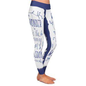 Casual Comfortable Leggings | Zara Martina - Wonder is Wisdom Navy | Inspiring Typography