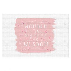 Decorative Floor Coverings | Zara Martina - Wonder is Wisdom Rose | Inspiring Typography