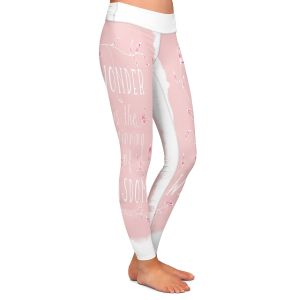Casual Comfortable Leggings | Zara Martina - Wonder is Wisdom Rose | Inspiring Typography