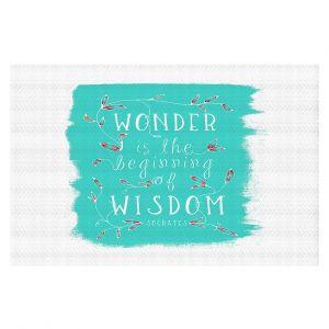 Decorative Floor Coverings | Zara Martina - Wonder is Wisdom Turquoise | Inspiring Typography