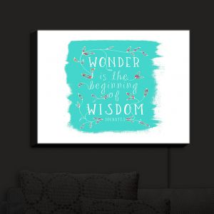 Nightlight Sconce Canvas Light | Zara Martina - Wonder is Wisdom Turquoise