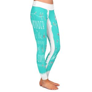 Casual Comfortable Leggings | Zara Martina - Wonder is Wisdom Turquoise | Inspiring Typography