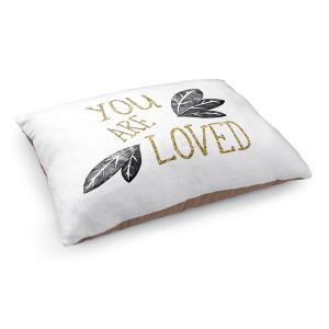 Decorative Dog Pet Beds | Zara Martina - You Are Loved Gold Black Leaves | Love Leaves Inspiring Wedding