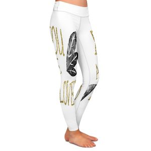 Casual Comfortable Leggings | Zara Martina - You Are Loved Gold Black Leaves | Love Leaves Inspiring Wedding
