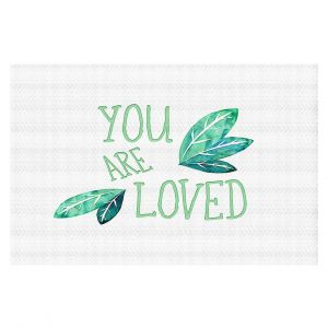 Decorative Floor Coverings | Zara Martina - You Are Loved Mint leaves | Love Leaves Inspiring Wedding