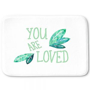 Decorative Bathroom Mats | Zara Martina - You Are Loved Mint leaves | Love Leaves Inspiring Wedding