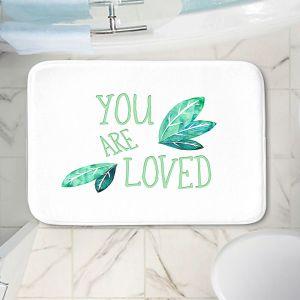 Decorative Bathroom Mats | Zara Martina - You Are Loved Mint leaves | Love Leaves Inspiring Wedding