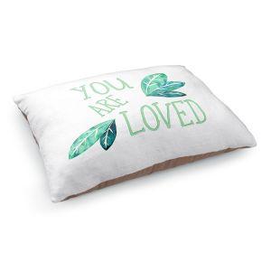 Decorative Dog Pet Beds | Zara Martina - You Are Loved Mint leaves | Love Leaves Inspiring Wedding