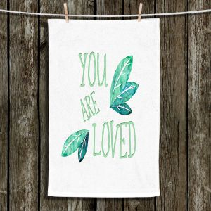 Unique Bathroom Towels | Zara Martina - You Are Loved Mint leaves | Love Leaves Inspiring Wedding