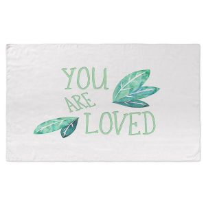 Artistic Pashmina Scarf | Zara Martina - You Are Loved Mint leaves | Love Leaves Inspiring Wedding