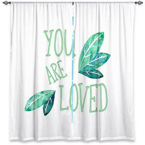 Decorative Window Treatments | Zara Martina - You Are Loved Mint leaves | Love Leaves Inspiring Wedding