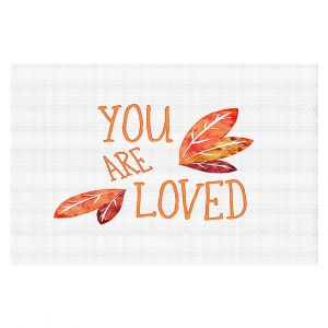 Decorative Floor Coverings | Zara Martina - You Are Loved Naranja Leaves | Love Leaves Inspiring Wedding