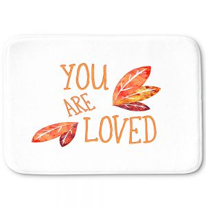 Decorative Bathroom Mats | Zara Martina - You Are Loved Naranja Leaves | Love Leaves Inspiring Wedding