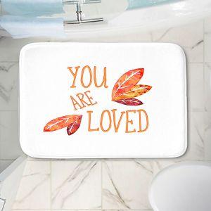 Decorative Bathroom Mats | Zara Martina - You Are Loved Naranja Leaves | Love Leaves Inspiring Wedding
