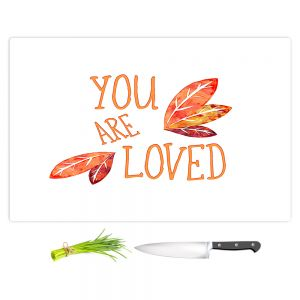 Artistic Kitchen Bar Cutting Boards | Zara Martina - You Are Loved Naranja Leaves | Love Leaves Inspiring Wedding