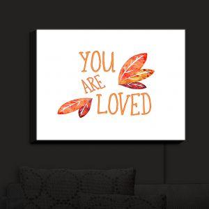 Nightlight Sconce Canvas Light | Zara Martina - You Are Loved Naranja Leaves