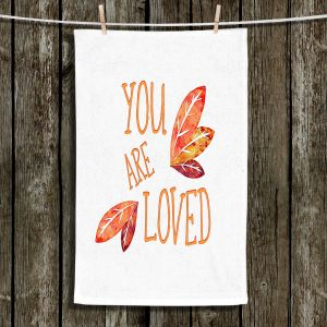 Unique Bathroom Towels | Zara Martina - You Are Loved Naranja Leaves | Love Leaves Inspiring Wedding