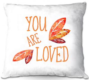 Throw Pillows Decorative Artistic | Zara Martina - You Are Loved Naranja Leaves | Love Leaves Inspiring Wedding