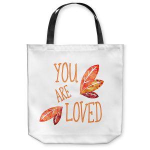 Unique Shoulder Bag Tote Bags | Zara Martina - You Are Loved Naranja Leaves | Love Leaves Inspiring Wedding