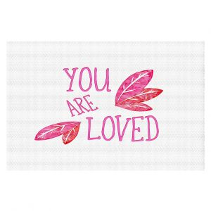 Decorative Floor Coverings | Zara Martina - You Are Loved Pink Leaves | Love Leaves Inspiring Wedding