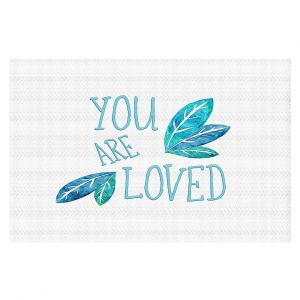 Decorative Floor Coverings | Zara Martina - You Are Loved Teal Leaves | Love Leaves Inspiring Wedding