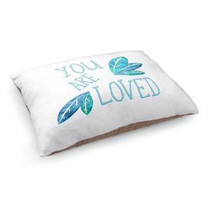Decorative Dog Pet Beds | Zara Martina - You Are Loved Teal Leaves | Love Leaves Inspiring Wedding