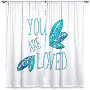 Decorative Window Treatments | Zara Martina - You Are Loved Teal Leaves | Love Leaves Inspiring Wedding