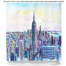Unique Shower Curtains From Dianoche Designs By Markus Bleichner Nyc Manhattan Skyline Artistic Designer Dianoche Designs