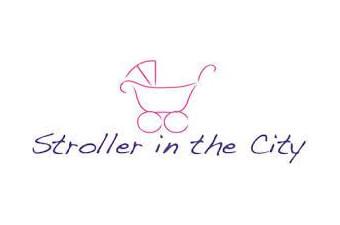 stroller in the city