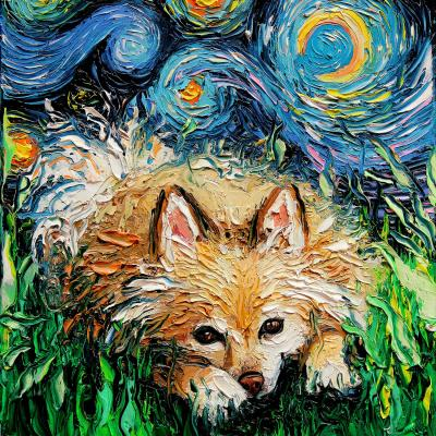 DiaNoche Designs Artist | Aja Ann - Pomeranian Night
