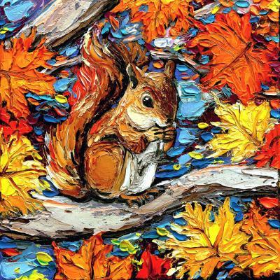 DiaNoche Designs Artist | Aja Ann - Squirreling Away